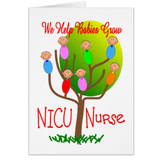 NICU Nurse Gifts, Adorable babies in a tree Card
