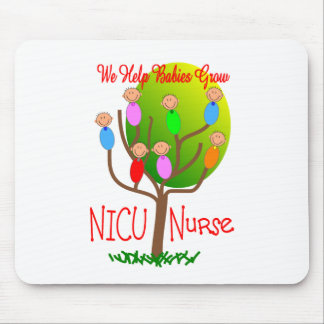 NICU Nurse Gifts, Adorable babies in a tree Mouse Pad