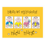 "NICU NURSE Gifts ""Babies Are My Business"" Postcard"