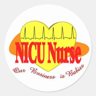 NICU Nurse Gifts Round Stickers