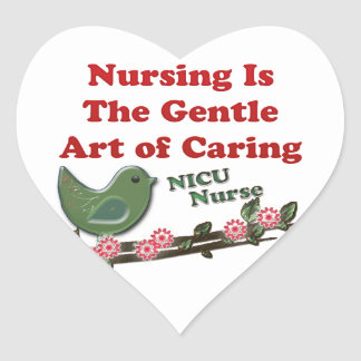 NICU Nurse Heart Sticker