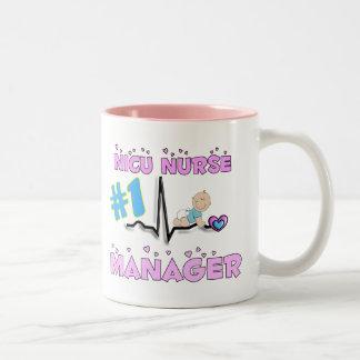 NICU Nurse Manager Gifts Two-Tone Coffee Mug