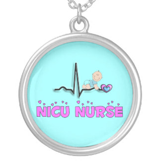 NICU Nurse Necklace, Sterling Silver