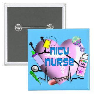 NICU Nurse Pink Heart Design Gifts Pinback Button