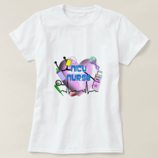 NICU Nurse Pink Heart Design Gifts T-Shirt