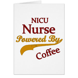 Nicu Nurse Powered By Coffee Greeting Cards