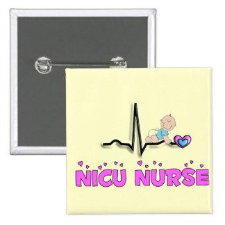 NICU Nurse QRS Design 2 Inch Square Button