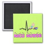 NICU Nurse QRS Design 2 Inch Square Magnet