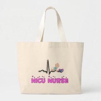 NICU Nurse QRS Design Large Tote Bag