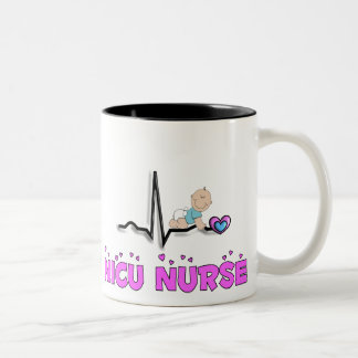NICU Nurse QRS Design Two-Tone Coffee Mug