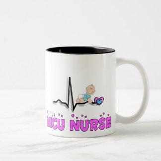 NICU Nurse QRS Design Two-Tone Coffee Mug