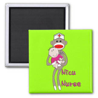 Nicu Nurse Sock Monkey Design Gifts Refrigerator Magnets