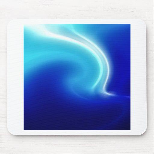 Niebla abstracta del azul de los cristales alfombrilla de ratón