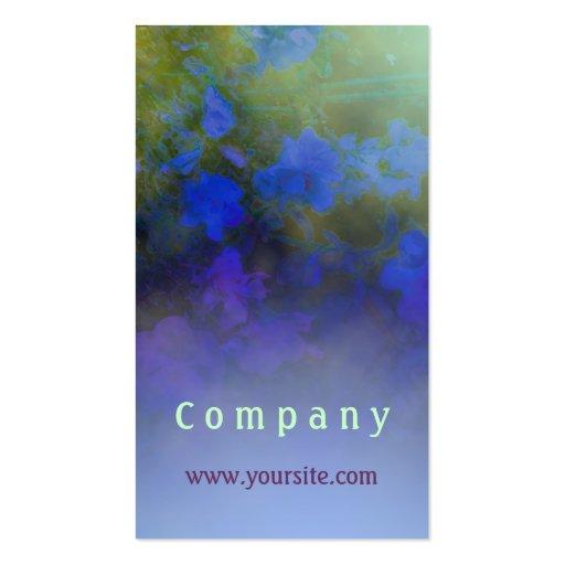 Niebla color de rosa azul tarjetas de visita