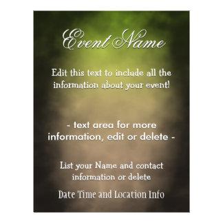 Niebla de encargo de la esmeralda del acontecimien flyer personalizado