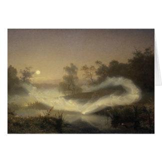 Niebla de hadas en claro de luna