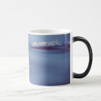 Niebla de hielo de Alaska del lago Amanka Tazas De Café