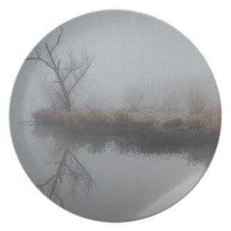 Niebla de la madrugada platos de comidas