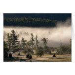 Niebla de la mañana en el Adirondacks 4 Felicitacion