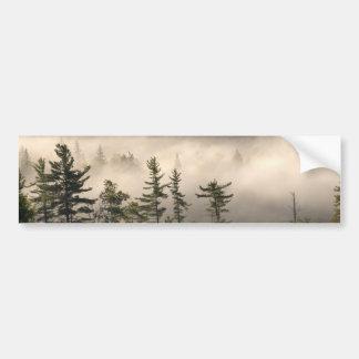 Niebla de la mañana en el Adirondacks Pegatina De Parachoque