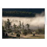 Niebla de la mañana en el Adirondacks Tarjeta De Felicitación