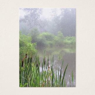 Niebla de la mañana en el ATC de la charca Tarjeta De Negocios