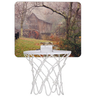 Niebla de la mañana tablero de baloncesto mini