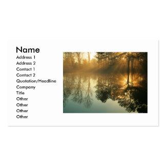 Niebla de la mañana tarjetas de visita