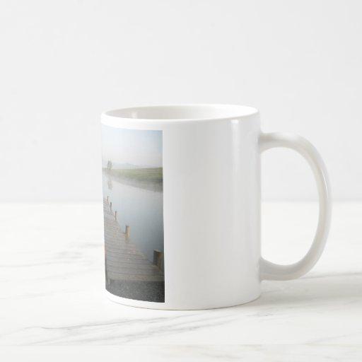 Niebla de la mañana taza de café