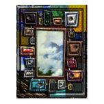 Niebla de la montaña capítulo por formas y textura tarjetas postales