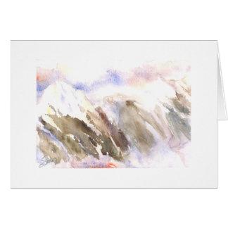 Niebla de las montañas de la cascada del panadero tarjeta de felicitación