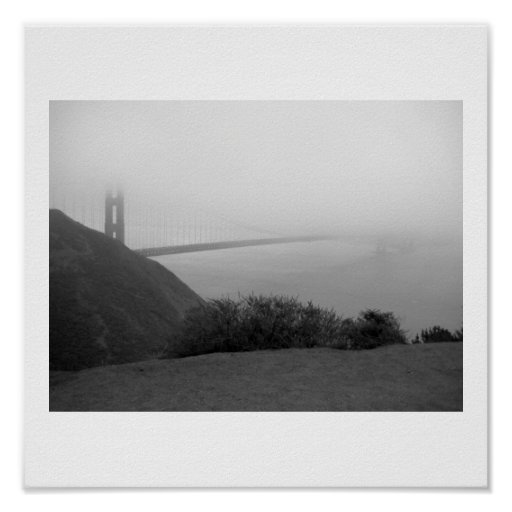 Niebla de puente Golden Gate Póster