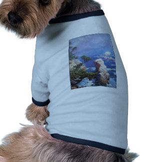 Niebla de Rose del individuo sobre el punto Lobos Camiseta De Perro