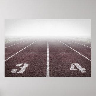 Niebla del atletismo póster
