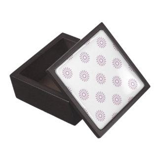 Niebla del color de malva del estampado de plores caja de regalo de calidad
