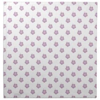 Niebla del color de malva del estampado de plores servilleta de papel