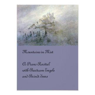 """Niebla del invierno en la montaña invitación 5"""" x 7"""""""