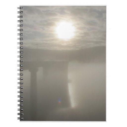 Niebla del invierno libro de apuntes con espiral