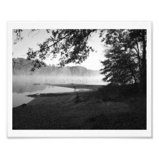 Niebla del lago fotografia