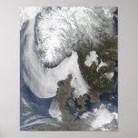Niebla del mar en Escandinavia Posters