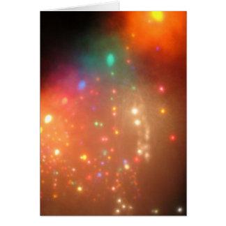 Niebla del navidad tarjeta de felicitación