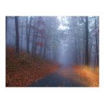 Niebla del otoño postal
