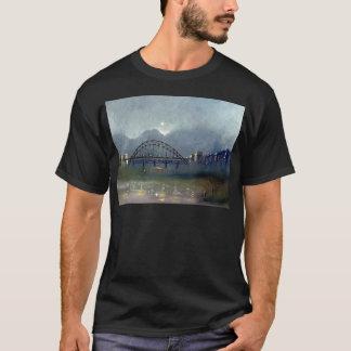 Niebla en la camiseta adulta negra de Tyne