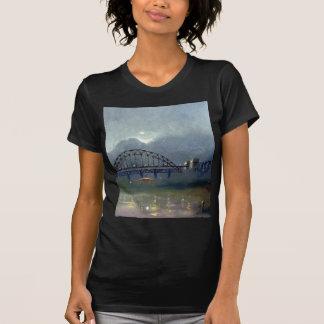 Niebla en la camiseta cabida negro de Tyne