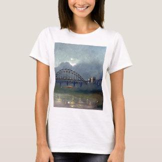 Niebla en la camiseta para mujer cabida Tyne