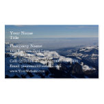 Niebla en montaña nevosa tarjeta de visita