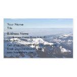 Niebla en montaña nevosa tarjetas personales