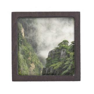 Niebla entre los picos y los valles del Gran Cañón Cajas De Joyas De Calidad