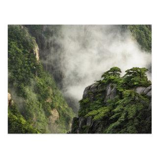 Niebla entre los picos y los valles del Gran Cañón Postales