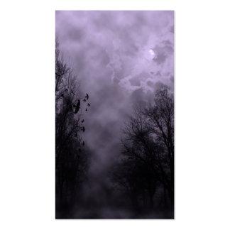 Niebla frecuentada de la púrpura del cielo tarjetas de visita